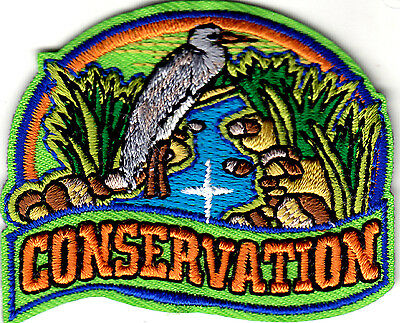 Conservation    Iron On Embroidered Patch   Universe  World  Earth  Wildlife