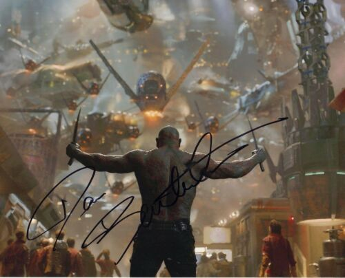 Dave Bautista Signed 10X8 Photo Genuine GUARDIANS OF THE GALAXY AFTAL COA (7355)