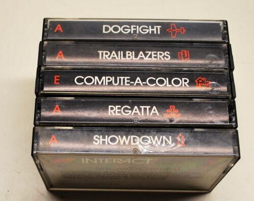 Original INTERACT Computer Bundle Lot of 5 Tapes Rare Item