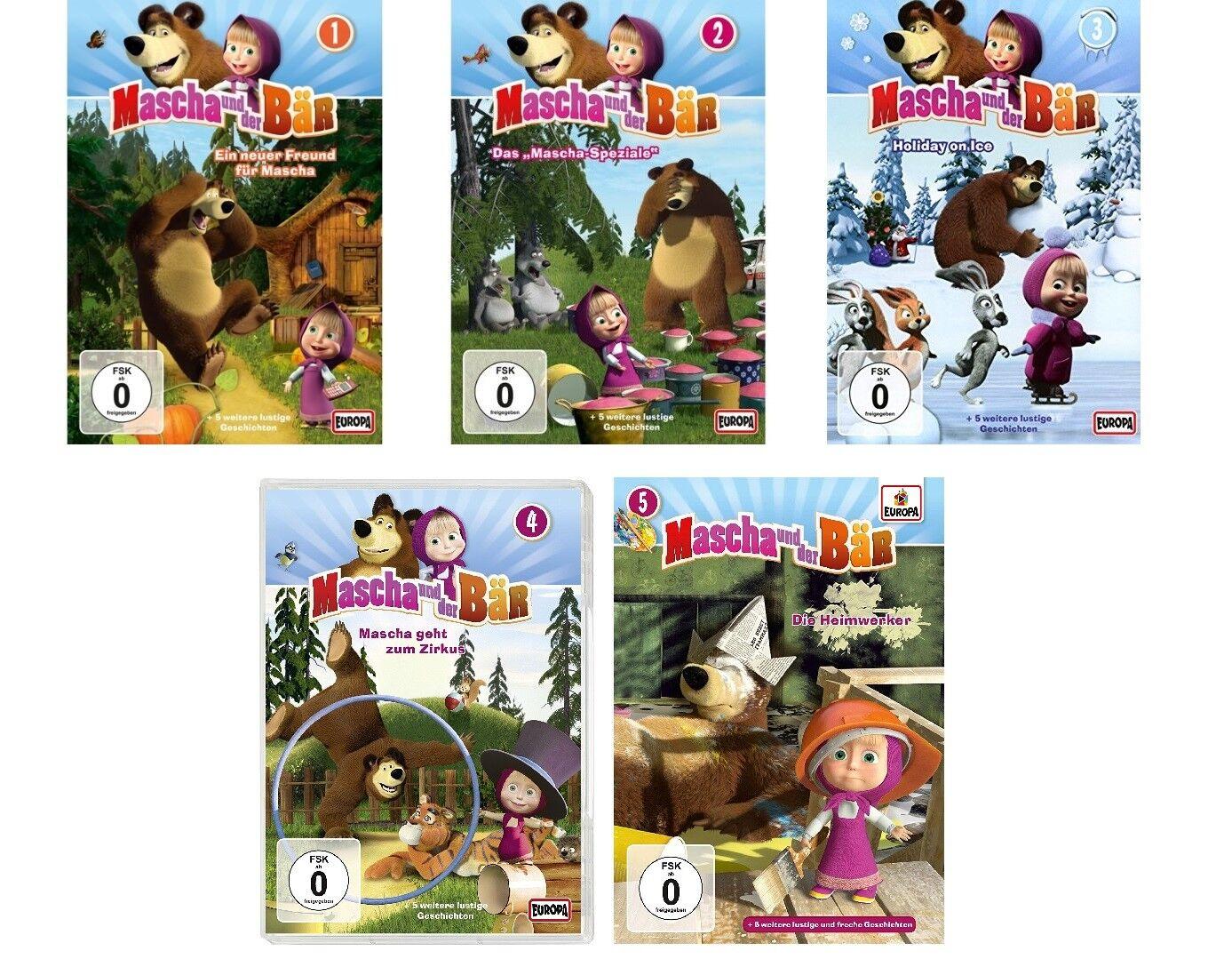 5 DVDs * MASCHA UND DER BÄR - DVD ZUR TV-SERIE 1 - 5 IM SET # NEU OVP =