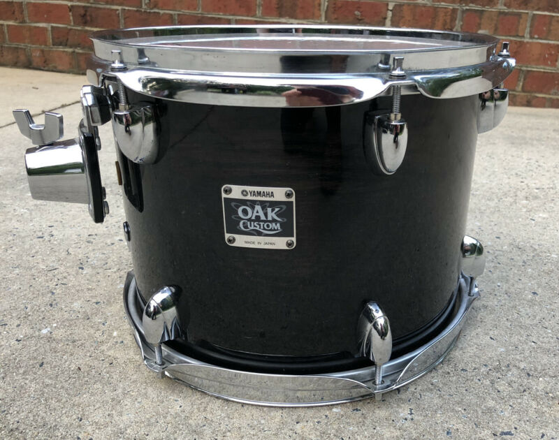 Yamaha Oak Custom 12 x 9 Musashi Transparent Black Lacquer Tom Made In Japan MIJ