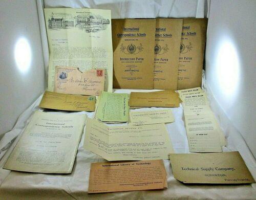 International Correspondence Schools 1901-04 Lot Letterhead Catalog Booklets Ads