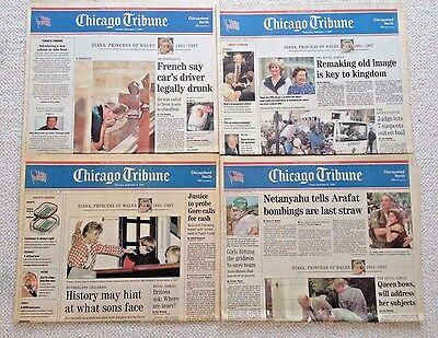 Chicago Tribune  Princess Diana Lot Of  4  Newspapers  Sept  1997
