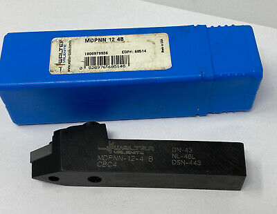 Walter Valenite Mdpnn-12-4b Neutral Negative Rake Indexable Turning Toolholder