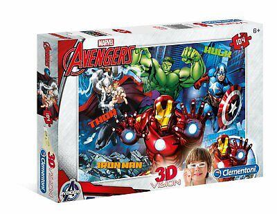 3 D Vision Puzzle - Avengers Assemble (Avengers Puzzle)