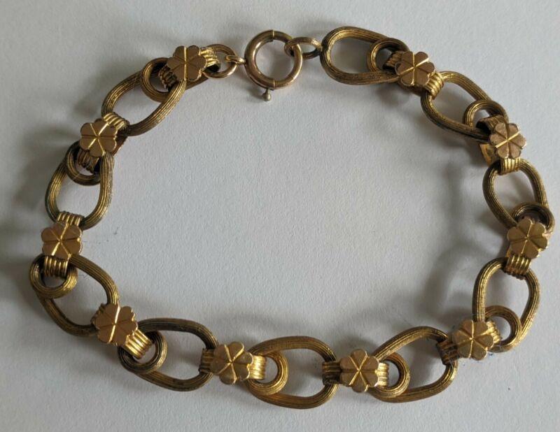 Antique Victorian Gold Filled Bookchain Bracelet