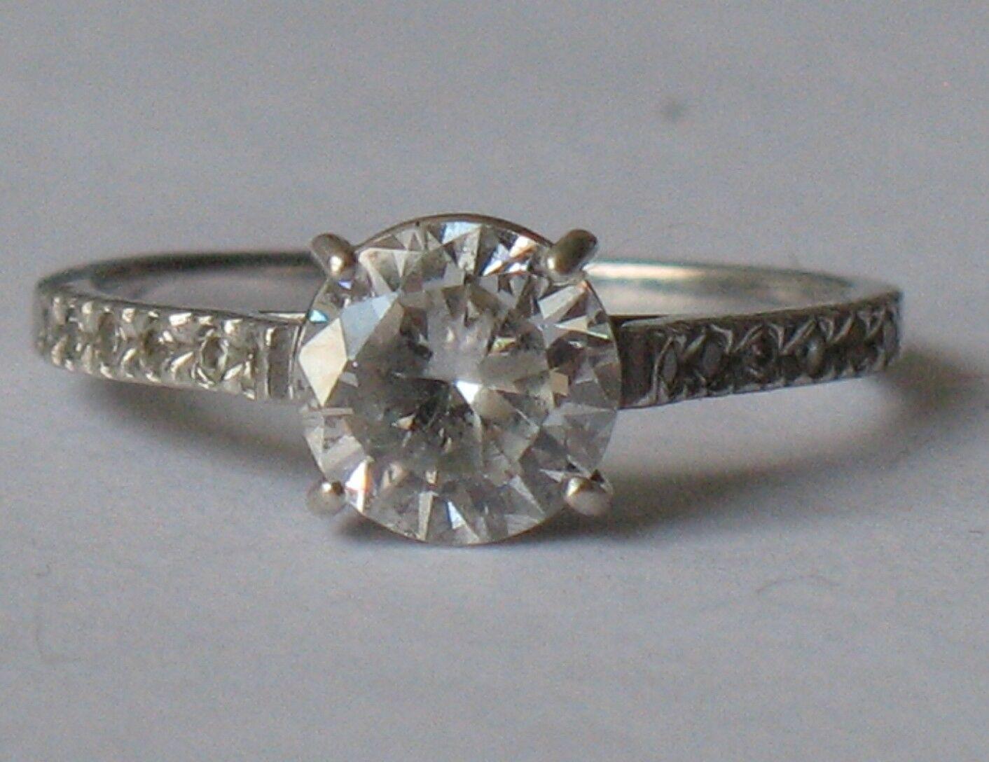 Antique Ukraine Sterling Silver 925 Ag Ring sz 7.5 Stone Fianit Chrystal White N