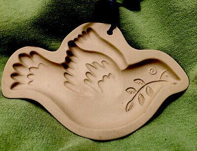 Brown Bag Peace Dove Bird Cookie Shortbread Candy Paper Art Mold Pan Press VTG