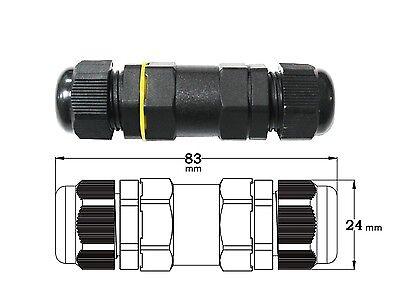1pc Pg12 4pin 15a Ip68 Waterproof Simple Multi-use Butt Splice Screw Connector