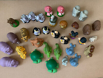 Fisher Price Little People Zoo Animal - Lot Of 34