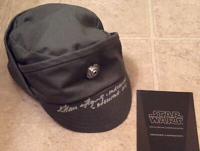 STAR WARS MUSEUM REPLICAS Signed Imperial Officer Cap Hat Alan Flyng COA