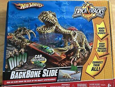 2008 Mattel Hot Wheels Dino BackBone Slide. Car Included. Used.