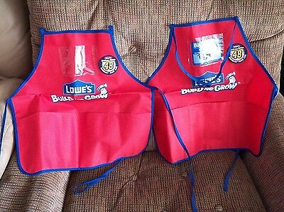 2 pc CHILDRENS APRON - Lowe's Build and Grow Kids Workshop Red Blue NEW