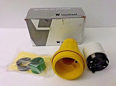 Woodhead 1301550161 Marine-grade 50a Plug 3p4w 3 Phase 250v Non-nema In Box