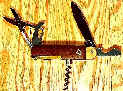German Eye Brand Carl Schlieper Camp Multi Brade Knife Solingen Germany MegaRare