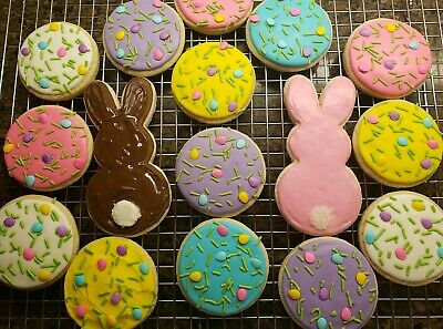 - Gluten Free Frosted Sugar Cookies - 16 Count - Homemade - Easter Cookies