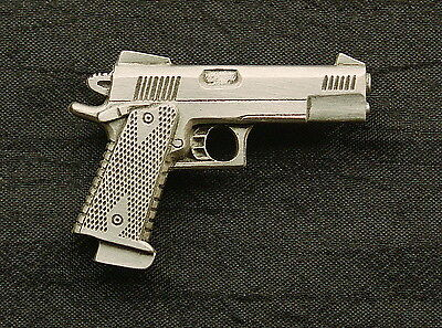 Personal Defense Competition .45 Handgun Pewter Pin ](Personalized Pins)