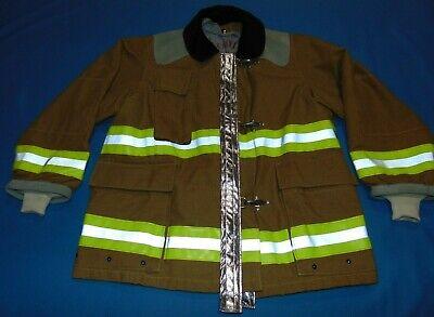 Firefighter Fireman Turnout Jacket Sz Medium 38-40 Excellent Condition