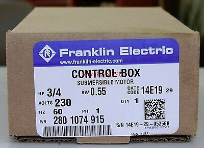 Franklin Electric 2801074915 Fe 3 4 Hp Control Box For 3 Wire Submersible Pump