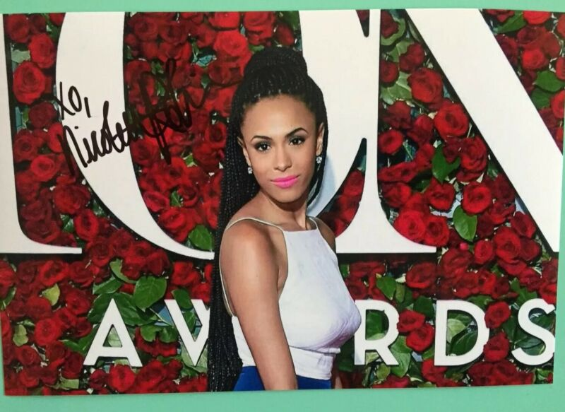 """Nicolette Robinson Signed Color Photo 6""""X4"""" Waitress On Broadway / TV The Affair"""