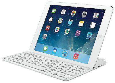 로지텍 마그네틱 클립 초슬림 블루투스 키보드 케이스 iPad 에어 실버 화이트