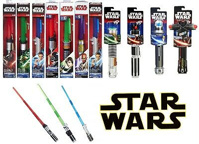 NEW OFFICIAL STAR WARS EXTENDING LIGHTSABERS YODA KYLO REN DARTH VADER LUKE REY