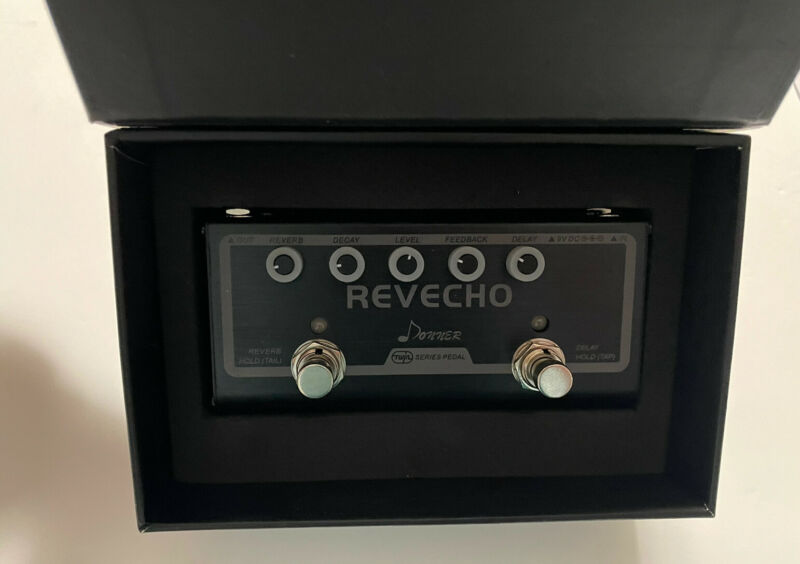 Donner Revecho Guitar Effect Pedal 2 Mode Delay and Reverb Effects Twin Series