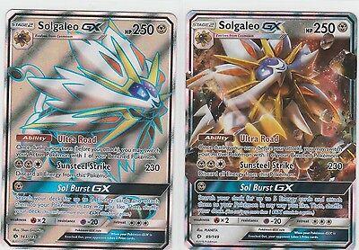 2x LOT Pokemon SUN & MOON Gx + FULL ART Solgaleo 143/149 + 89/149 ~