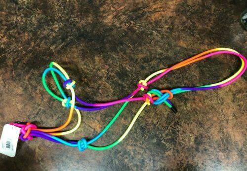 New Neon Rainbow Rope Tie Cowboy Horse Halter FREE SHIPPING!