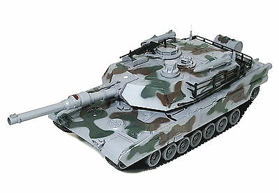 """1:10 Giant RC US M1A2 Military Battle Tank Remote Control Air Soft Grey 32"""" New"""