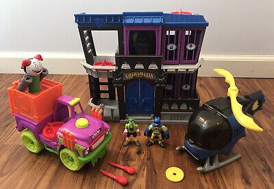 Imaginext Batman Helicopter Gotham City Jail Joker Surprise Truck Lot GUC Works