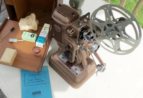 Vintage Ampro Imperial, Silent 16mm Movie Projector