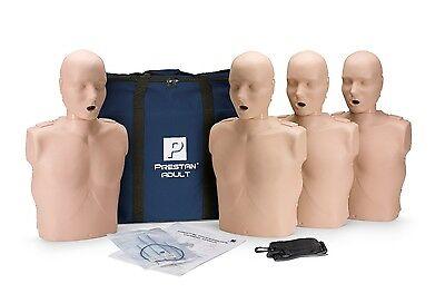 4-pack Prestan Adult Cpr Manikins Med Skin Tone Pp-am-400-ms Cpraed Mannequins