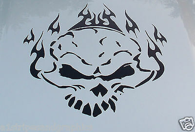 Skull Flame Hood Window Graphic Decal Graphics Fit All Car & Trucks Ram Jeep 150