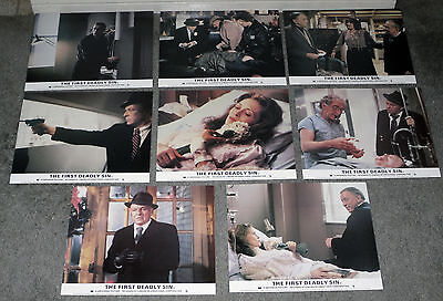 THE FIRST DEADLY SIN color set FRANK SINATRA/FAYE DUNAWAY orig lobby FOH photos