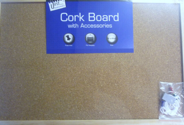 Wooden Edge Cork Message Board 30cm x 45 cm (slightly larger than A3)