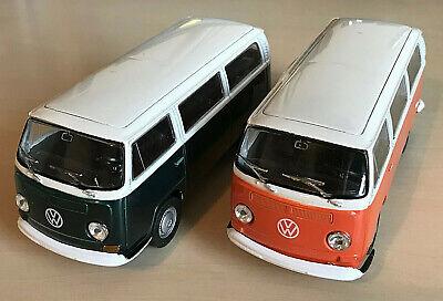 VW T2 CAMPER VAN 1:43 SCALE DIECAST MODEL ORANGE OR GREEN FREE POST UK SALE