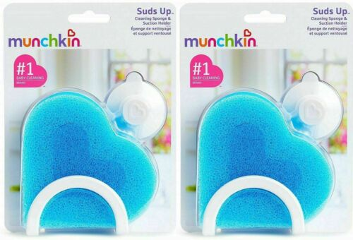Munchkin Suds Up Cleaning Sponge and Suction Holder- 2 Pack