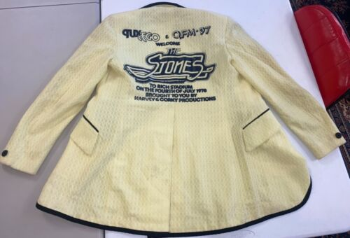 Original 1978 The Rolling Stones Tour Jacket Tux Coat Very Clean Buffalo NY Rich