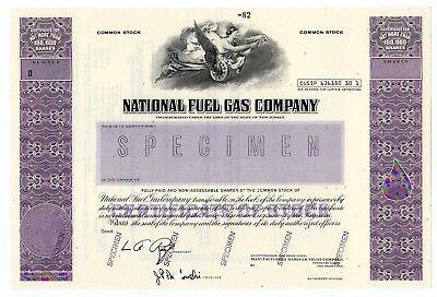 Specimen   National Fuel Gas Company