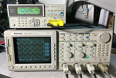 Tektronix Tds510a 4 Channel Oscilloscope 500mhz 500msas 1f 1m 2f