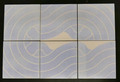 Vintage  Modern Tile Set Abstract Mid Century