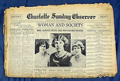 Charlotte Sunday Observer Newspaper Society Section June 14 1925 Gossip Weddings