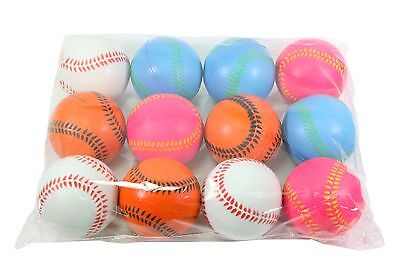 12 Big Baseball Hand Wrist Finger Exercise Stress Relief Therapy Squeeze Balls](Baseball Stress Ball)
