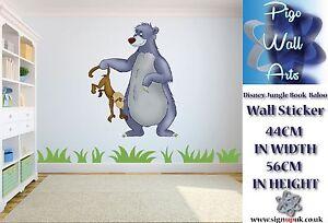 disney jungle book art sticker baloo children s room d 233 cor disney wall sticker decoration jungle book mogli 65x85cm