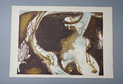 Joan Miro Komposition Grafik Kunst Bild Holzschnitt 32x24 cm limitierte Auflage