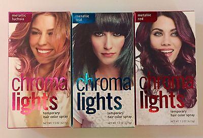 CHROMALIGHTS TEMPORARY HAIR COLOR SPRAY RED/TEAL/FUCHSIA