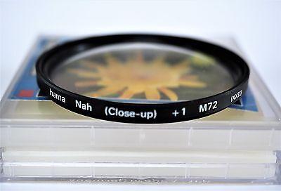 Makro-Linse 72 mm, hama N +1, (Close-up +1 Dioptrie) in OVP, top!