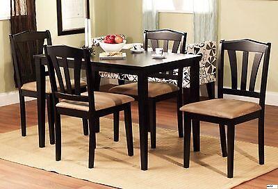 5 Piece Dining Set Wood Breakfast Furniture ...