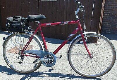 RALEIGH GENTS MAROON 18 GEARS BIKE